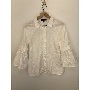 Banana Republic Button Down Tops White Size Medium